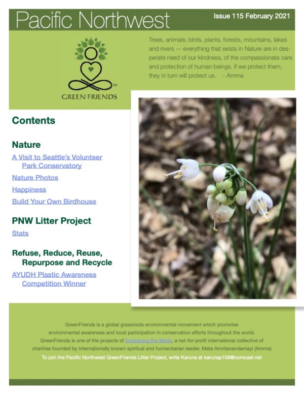 Click to Download the GreenFriends Newsletter